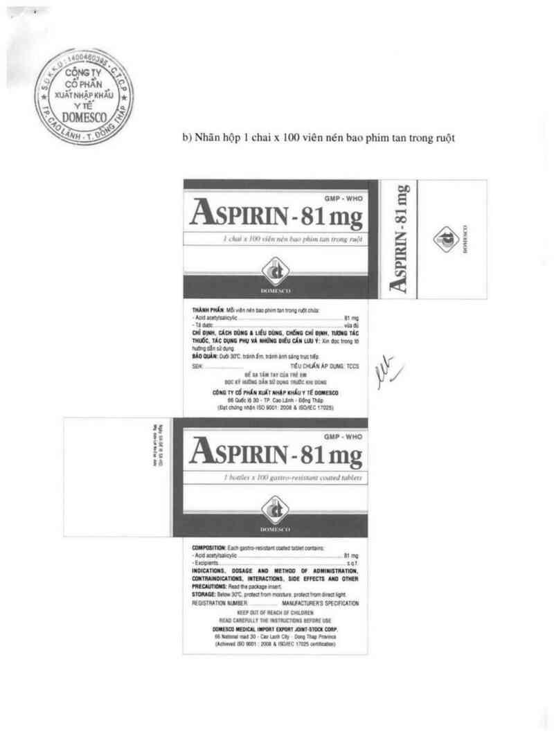 thông tin, cách dùng, giá thuốc Aspirin 81 mg - ảnh 2