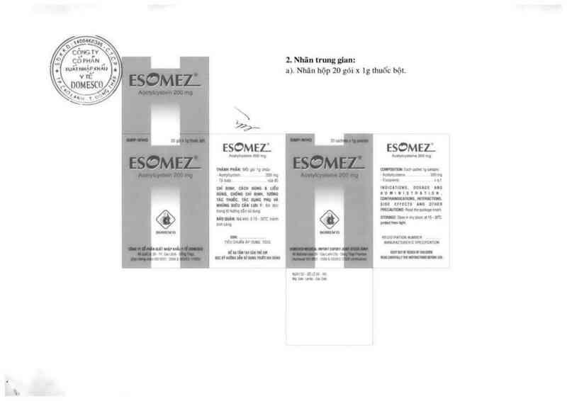 thông tin, cách dùng, giá thuốc Esomez - ảnh 1