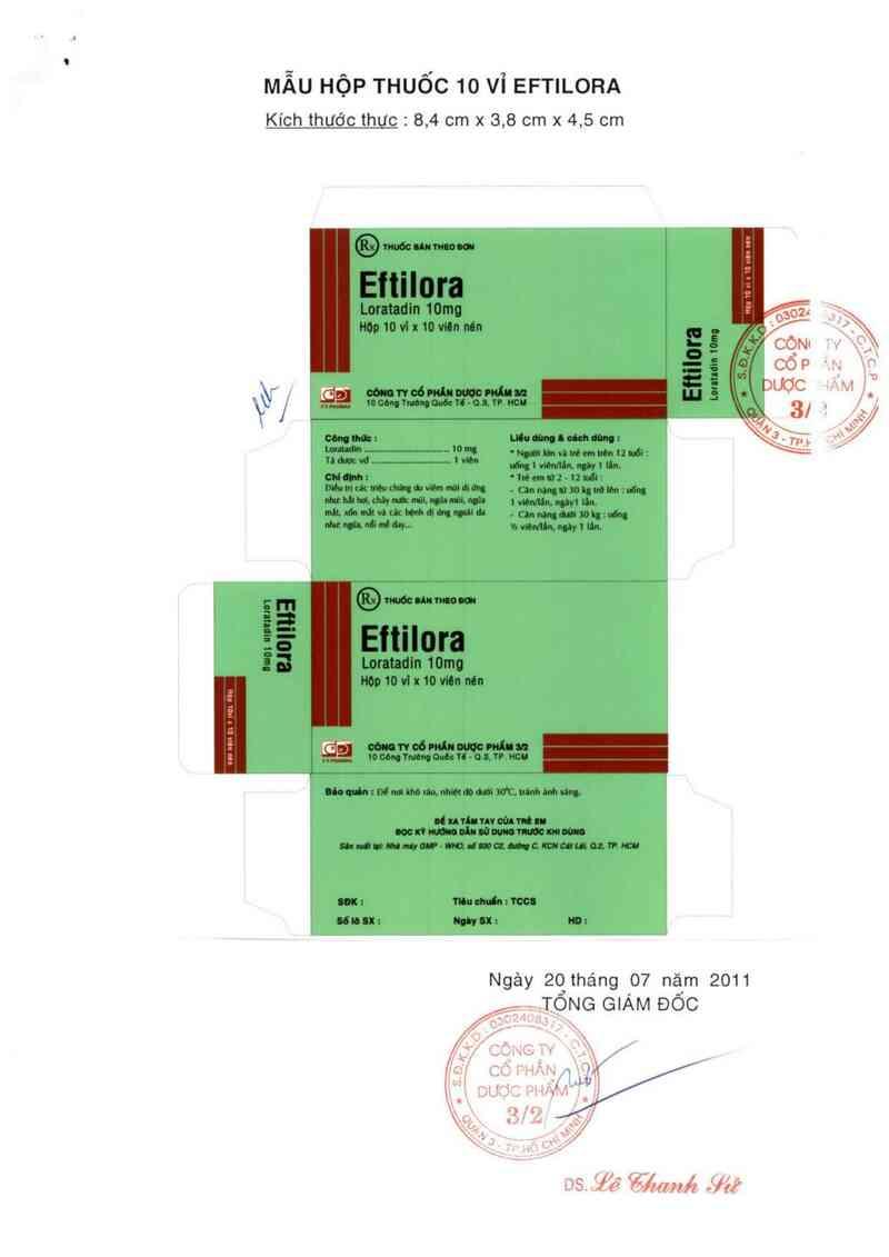 thông tin, cách dùng, giá thuốc Eftilora 10 mg - ảnh 1