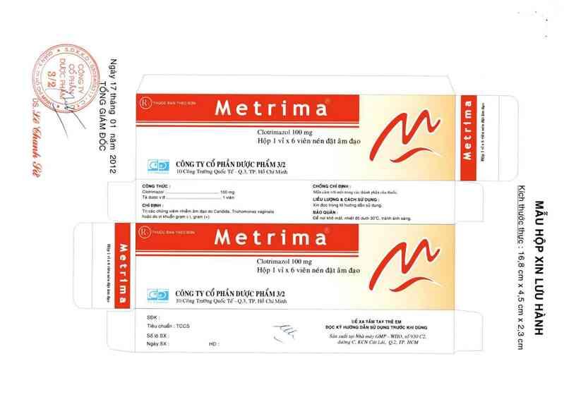 thông tin, cách dùng, giá thuốc Metrima100 - ảnh 0