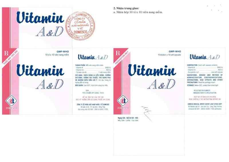 thông tin, cách dùng, giá thuốc Vitamin A&D - ảnh 2