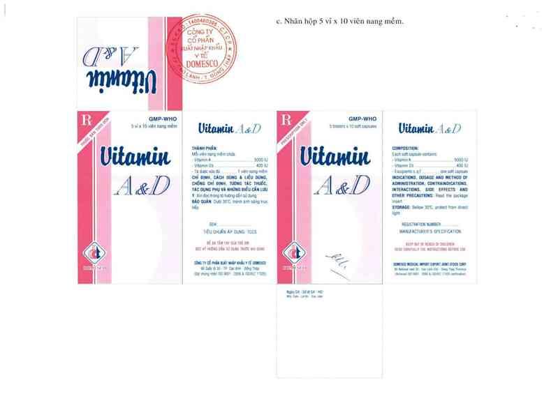 thông tin, cách dùng, giá thuốc Vitamin A&D - ảnh 4