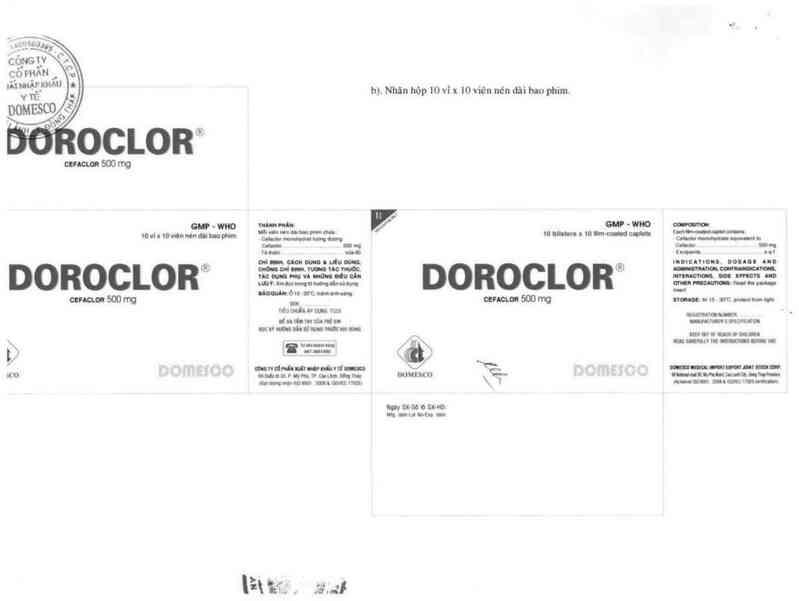 thông tin, cách dùng, giá thuốc Doroclor - ảnh 2