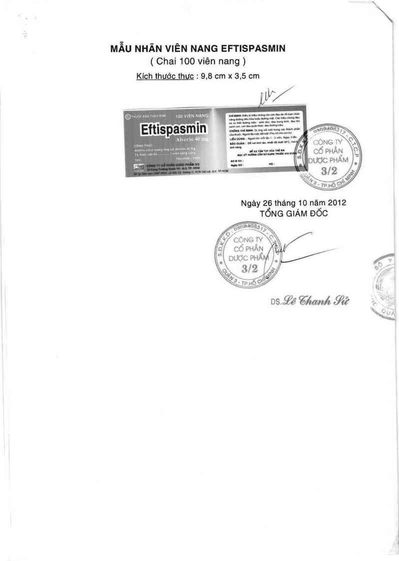 thông tin, cách dùng, giá thuốc Eftispasmin - ảnh 1