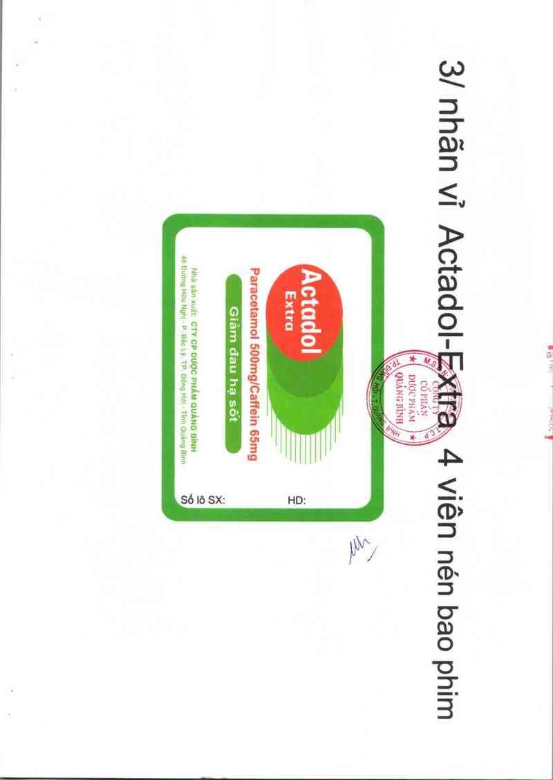 thông tin, cách dùng, giá thuốc Actadol - Extra - ảnh 3