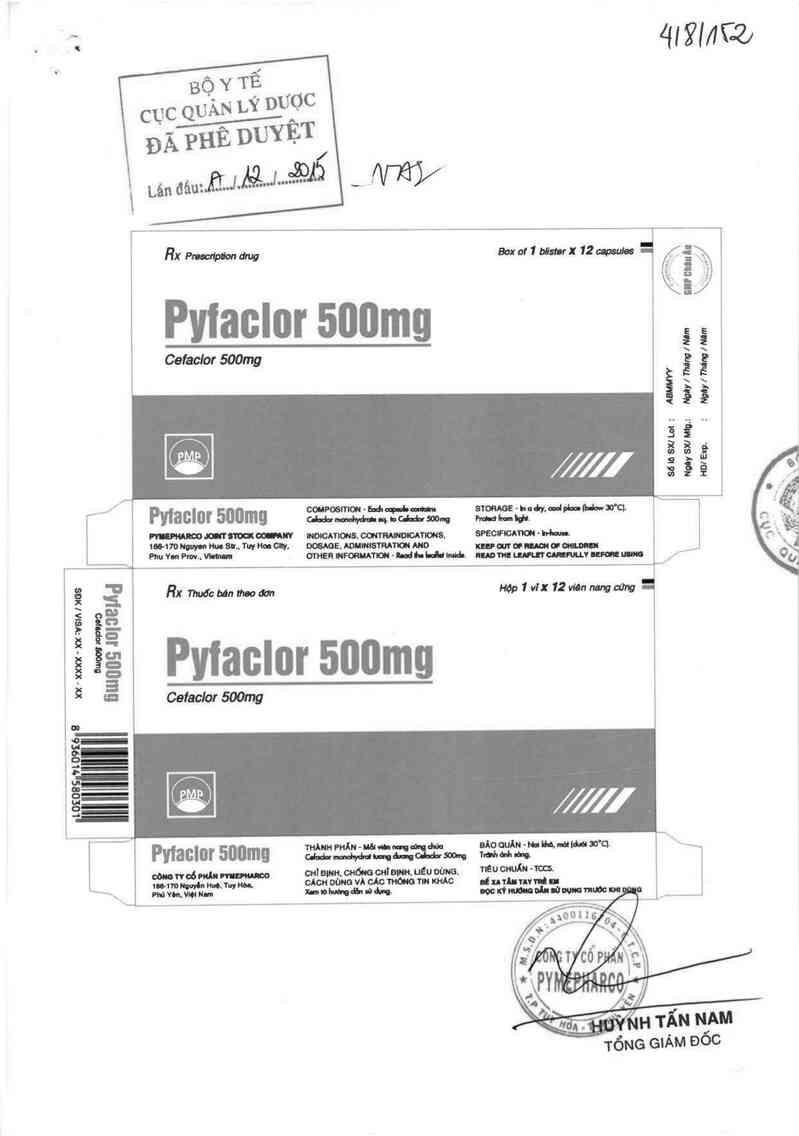 thông tin, cách dùng, giá thuốc Pyfaclor 500mg - ảnh 0