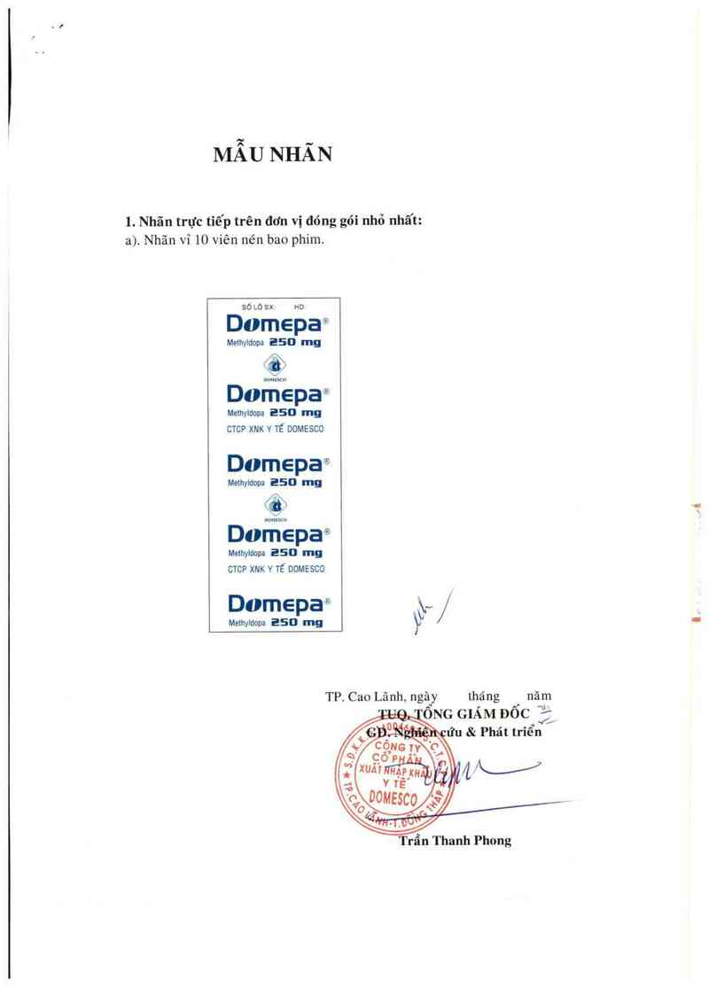 thông tin, cách dùng, giá thuốc Domepa 250 mg - ảnh 2