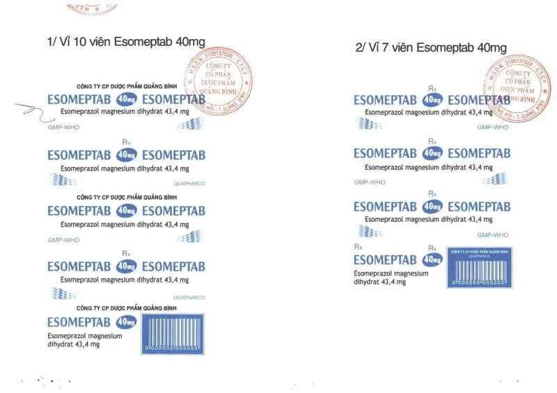 thông tin, cách dùng, giá thuốc Esomeptab 40 mg - ảnh 3