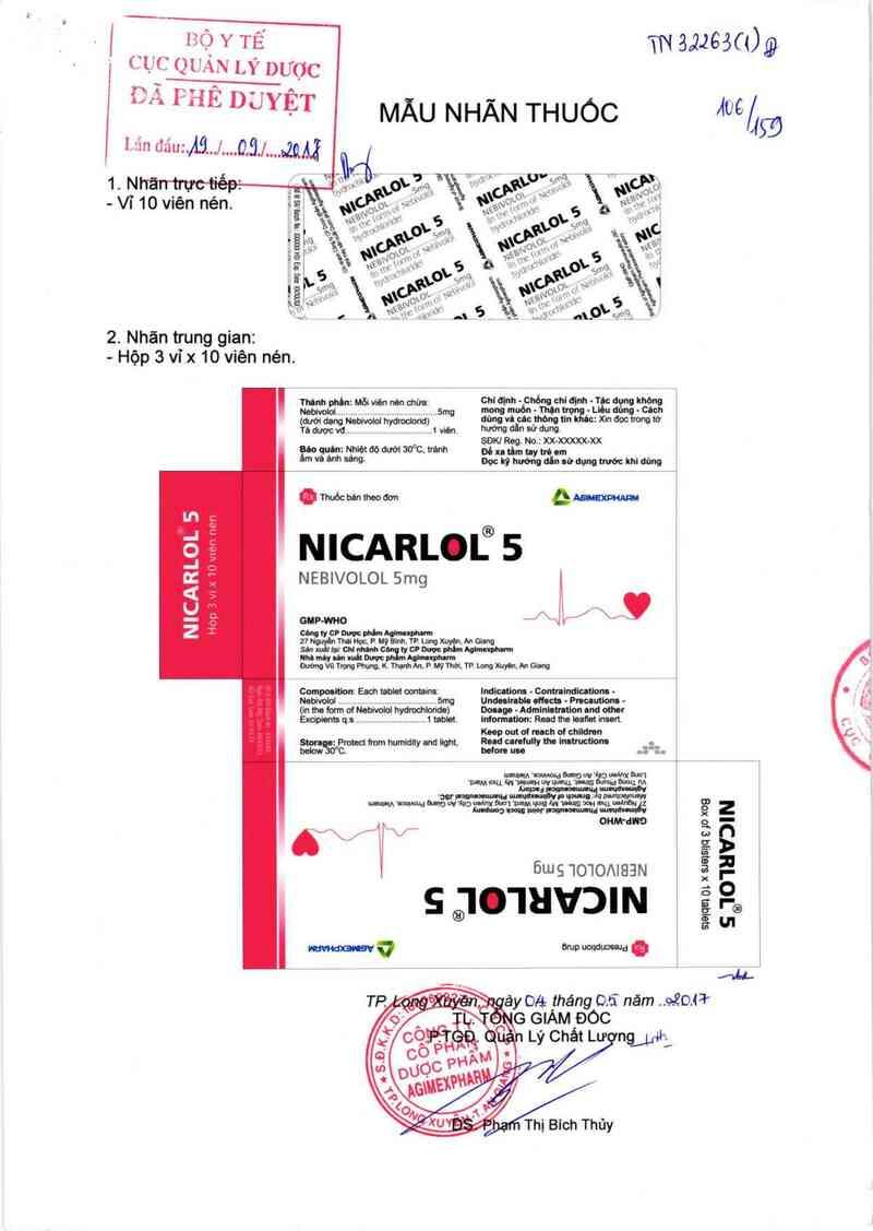 thông tin, cách dùng, giá thuốc Nicarlol 5 - ảnh 0