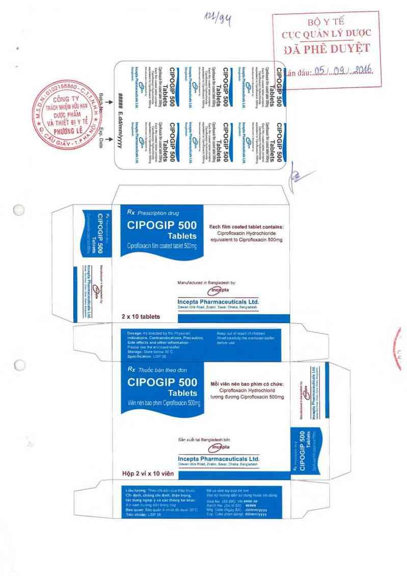 thông tin, cách dùng, giá thuốc Cipogip 500 Tablet - ảnh 0